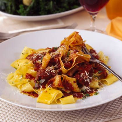 The Duck Ragù can be cooked and frozen ahead of your dinner party.