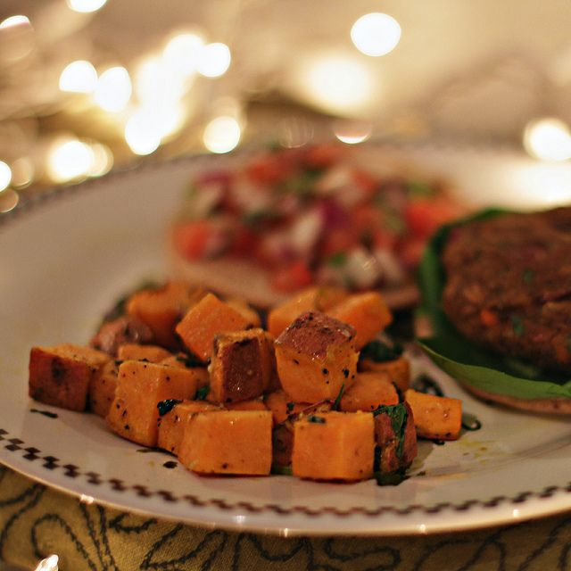 Cilantro Lime Roasted Sweet Potatoes | FOOD | Pinterest