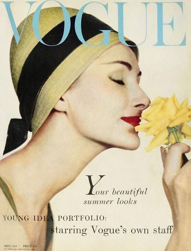 Vogue april 1958 vintage fashion pinterest Revista fashion style magazine