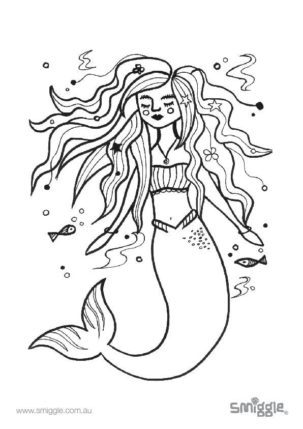 this mermaid needs some colour