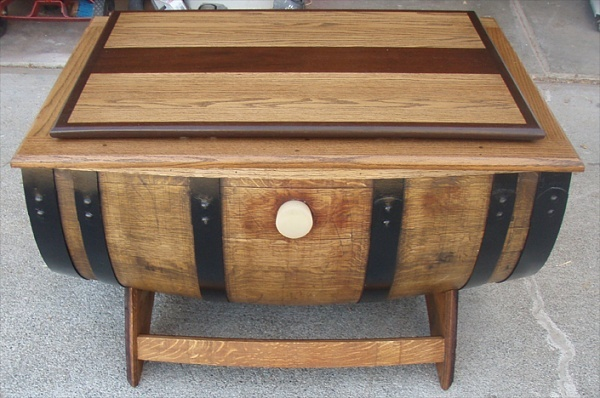 Wine Barrel Coffee Table Crafts For Men To Make Pinterest