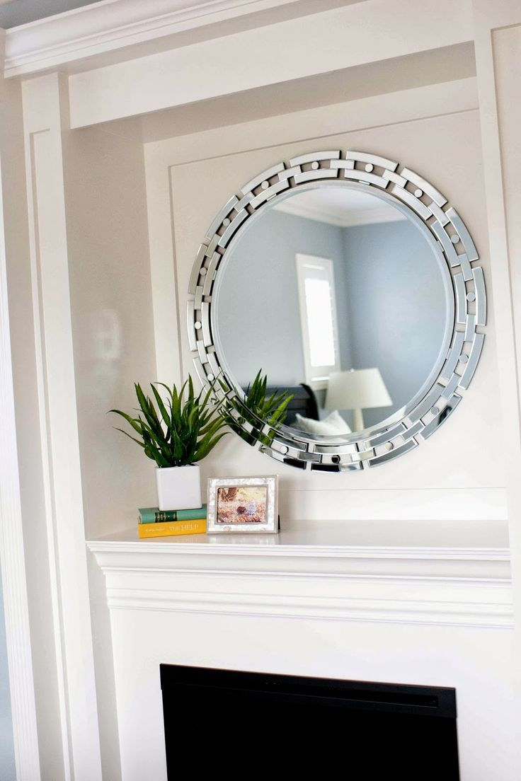 mirror over fireplace mirrors pinterest