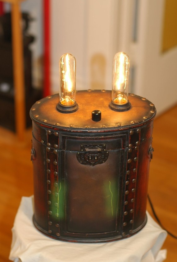 a personal friend of mine makes these amazing lamps from all kinds of boxes and such! They are beautiful!