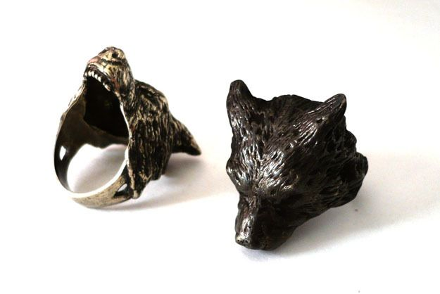 wolf ring by las jewelry baubles