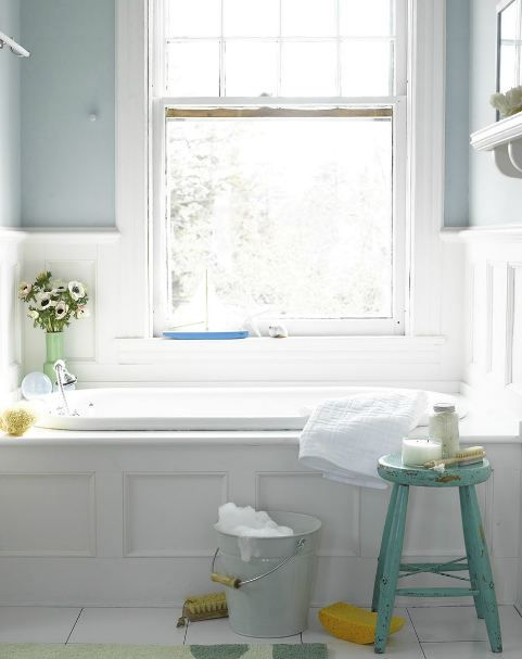 Bathroom with drop in tub for the home pinterest for Drop in bathtub with shower