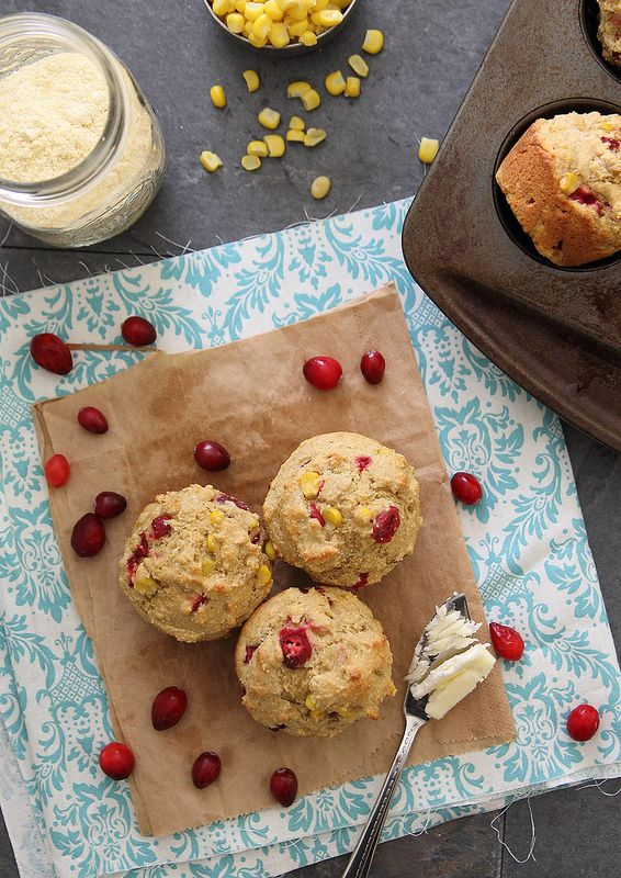 Cranberry corn muffins! 1 cup white whole wheat flour,1 cup yellow ...