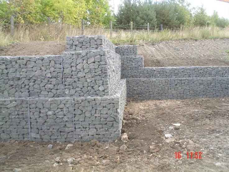 Gabion retaining wall systems garden Pinterest