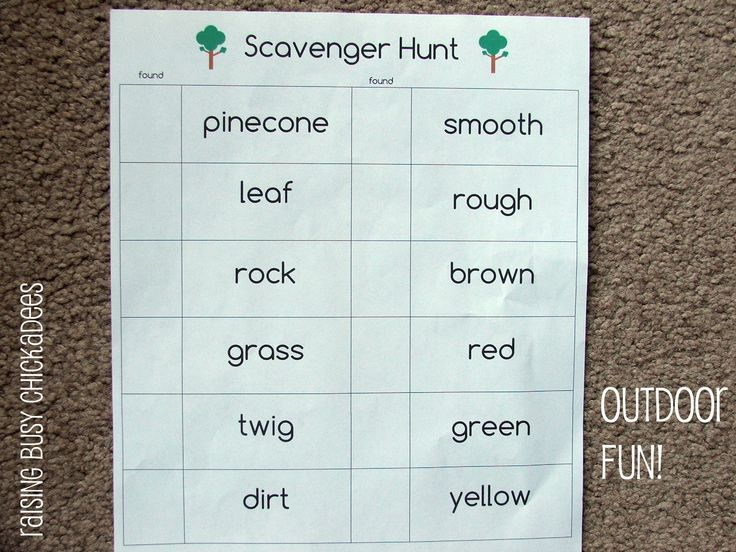 scavenger hunt template good for earth day activity