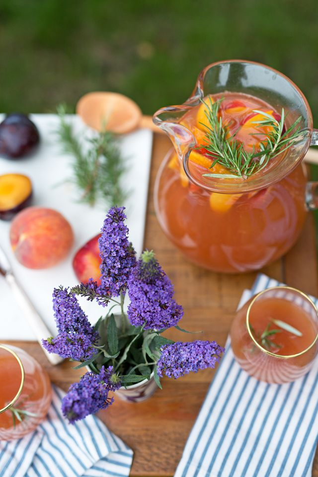 Marshalls Abroad: Summer Stone Fruit Sangria. Sounds delicious!! -ALS
