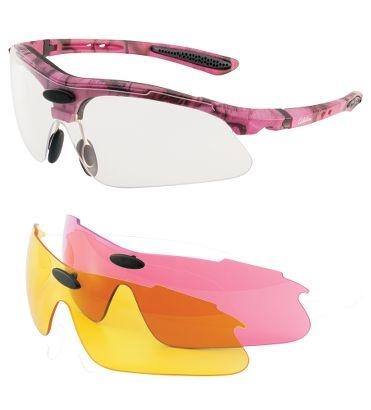 shooting glasses pink camo and fishing