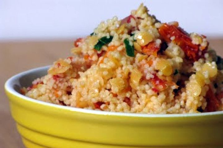 Mediterranean Couscous Salad with Roasted Vegetables Recipe