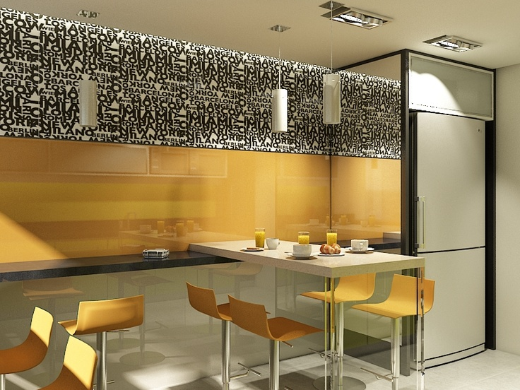Corporate kitchen office design pinterest for Home office in kitchen