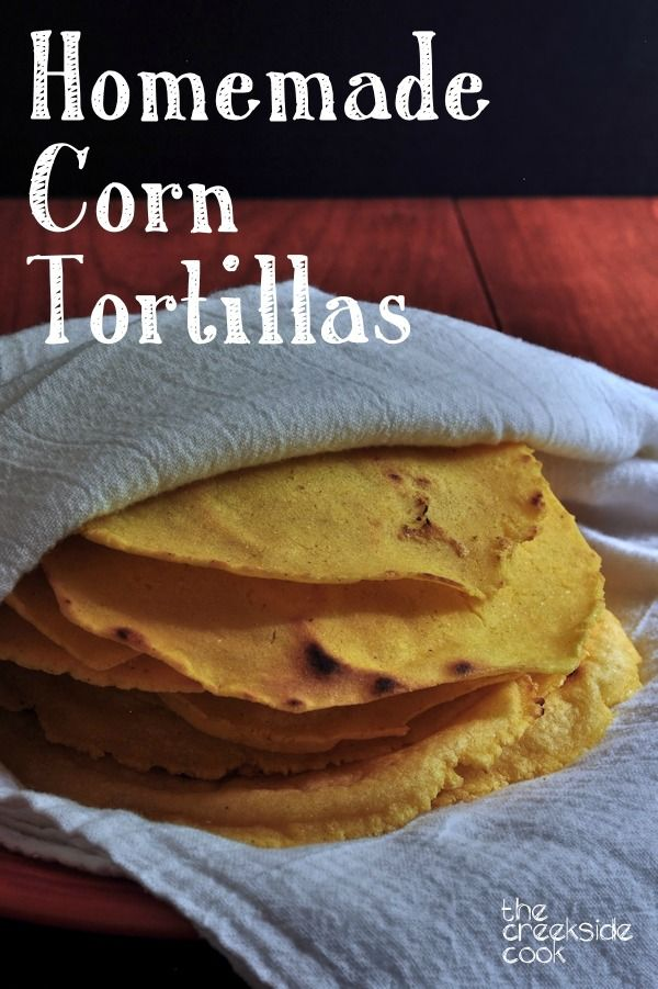 ... you make them yourself! Homemade Corn Tortillas on The Creekside Cook