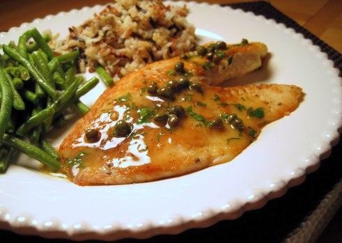 tilapia piccata | Fish/Seafood | Pinterest
