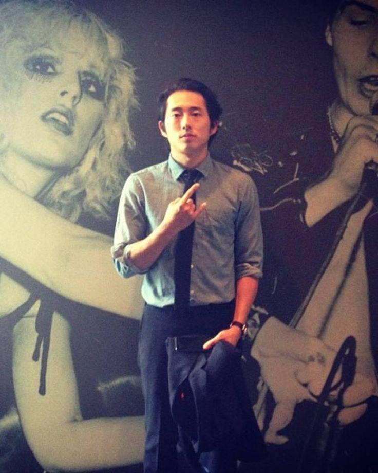 Steven yeun glenn comic con 2013 the walking dead cast pinterest