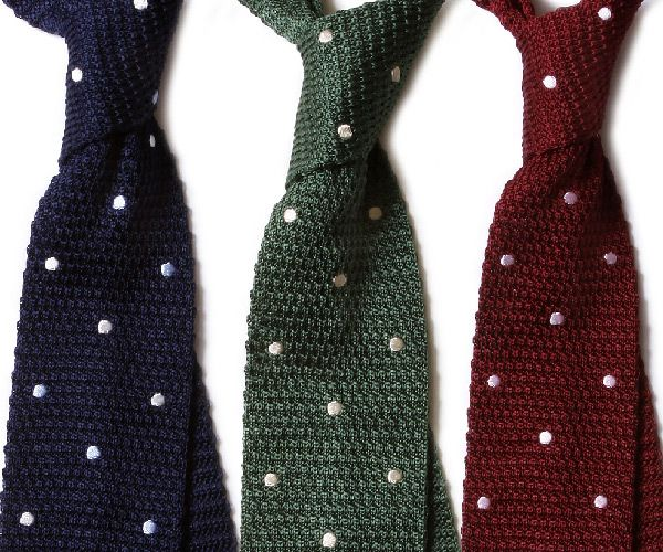 How To Knit A Tie Pattern : Free Man: Polk dot knit tie get knitted Pinterest