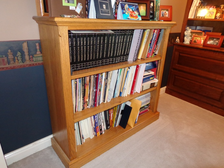 Oak bookcase | My Woodworking Projects | Pinterest