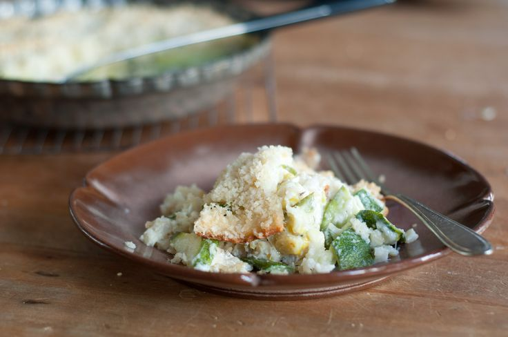Brown Rice Gratin with Zucchini, Leeks and Goat Cheese - Read More at ...