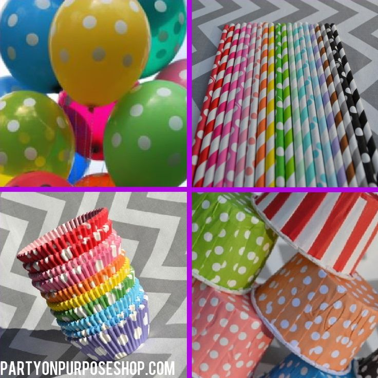 Rainbow Birthday Party Decorations Package. $102.00, via Etsy.