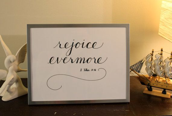 Framed calligraphy of bible verse i thessalonians