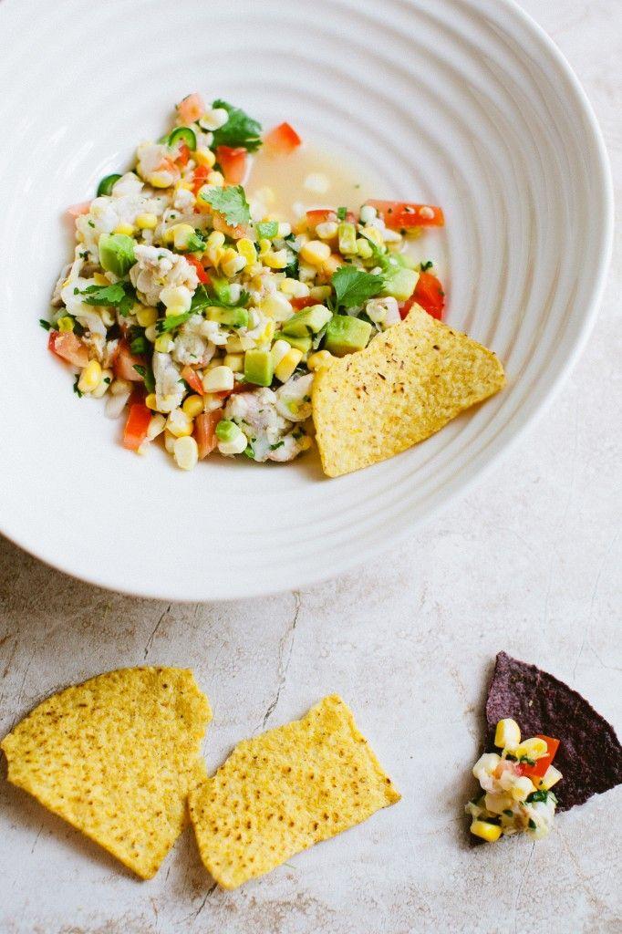 Shrimp + Sweet Corn Ceviche   Food   Pinterest