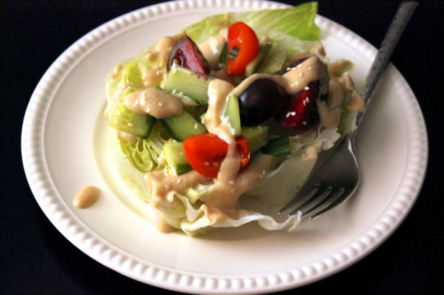 Wedge salad - with sesame miso dressing