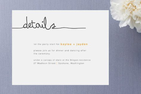 Wedding Gift Enclosure Card Wording : The Happy Couple Enclosure Cards by R studio at minted.com
