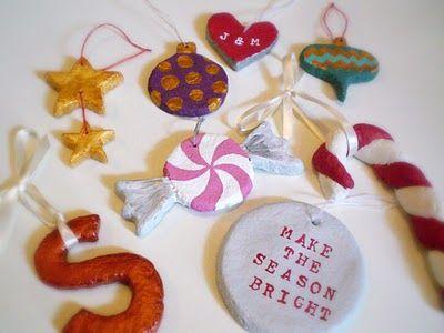 Homemade clay ornaments ornaments pinterest