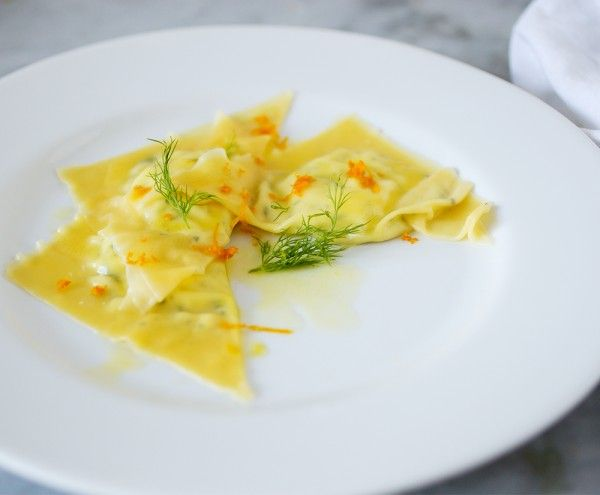 Delicate Goat Cheese Ravioli with Lemon Sauce and Orange Zest | Recipe