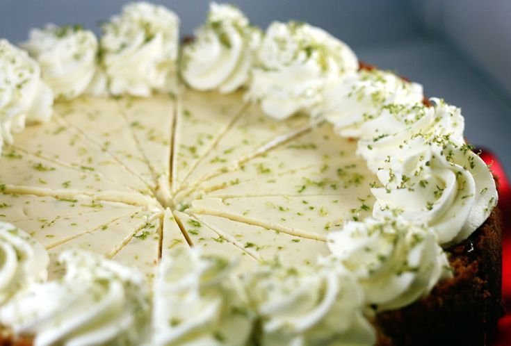 Key Lime Cheesecake...Cj's birthday cake this year! Now I just have to ...