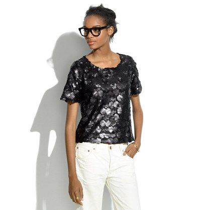 Matte Sequin Top - interesting mix of sequins.