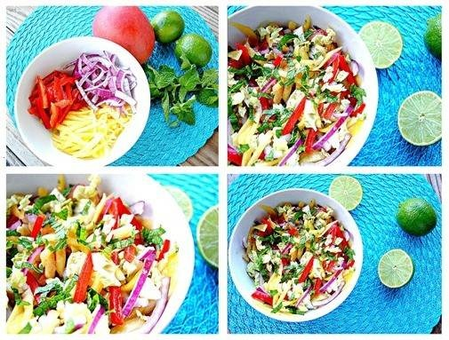 Mango slaw with cashews and mint | Food & Drink | Pinterest