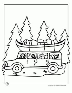 road trip camp coloring page