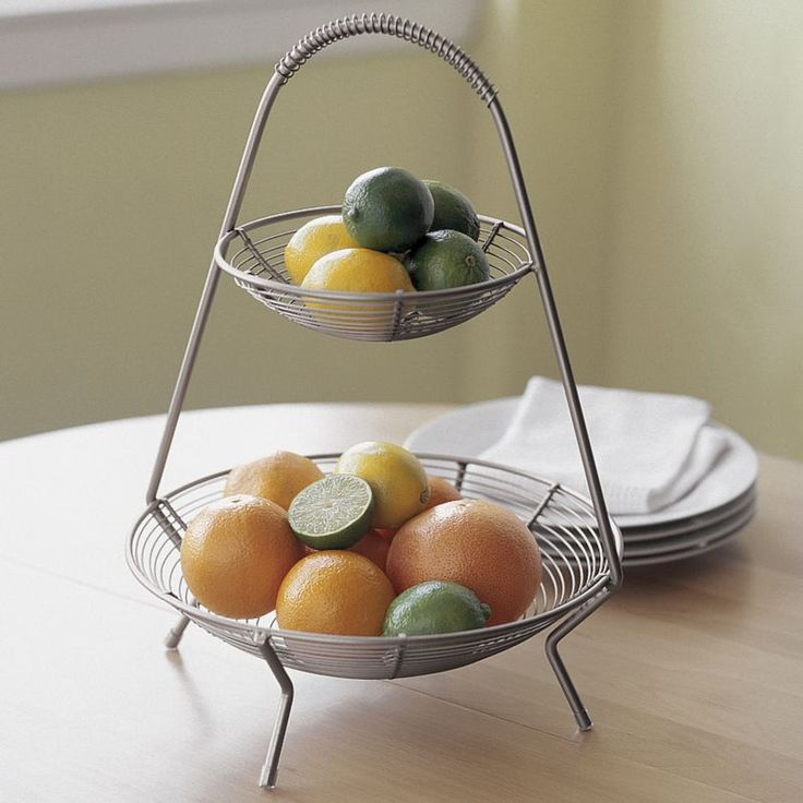 Two-Tier Fruit Basket in Food Containers, Storage Crate and Barrel ...