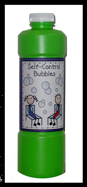 Using bubbles as a self-control object lesson
