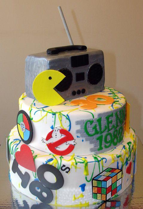 80s theme cakes
