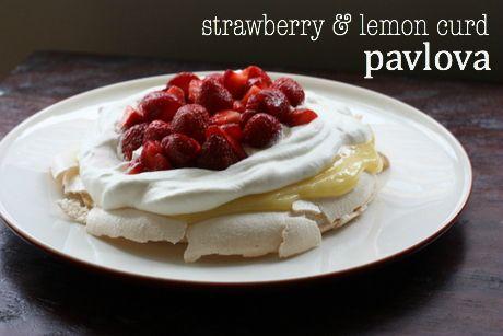 Strawberry and Lemon Curd Pavlova | Desserts | Pinterest