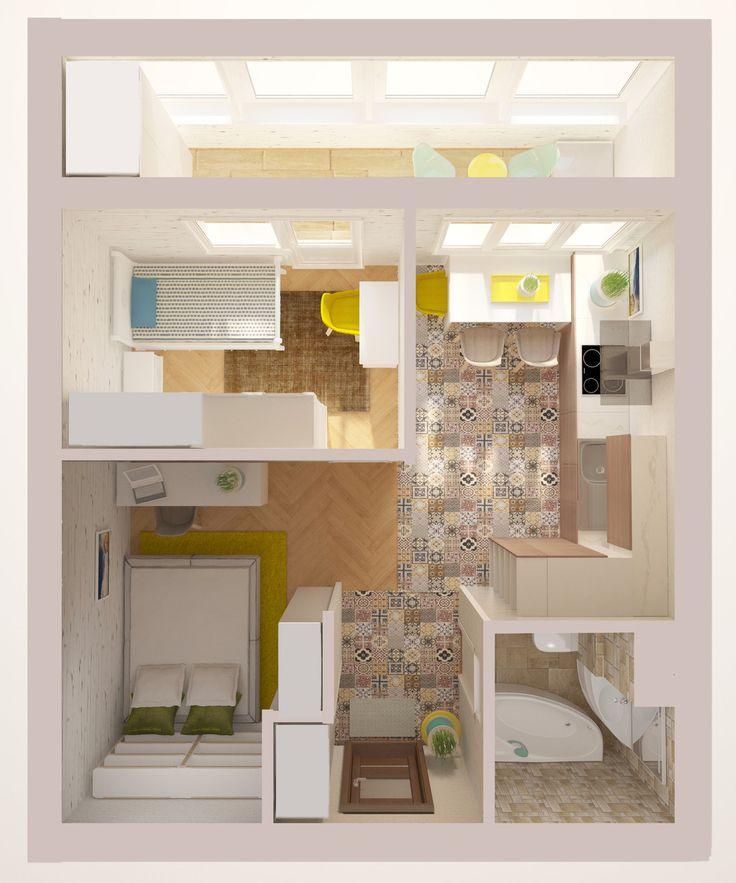 Как сделать перепланировку в однокомнатной квартире своим 181