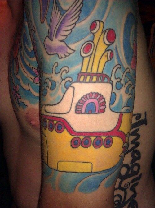 yellow submarine tattoo ink pinterest. Black Bedroom Furniture Sets. Home Design Ideas