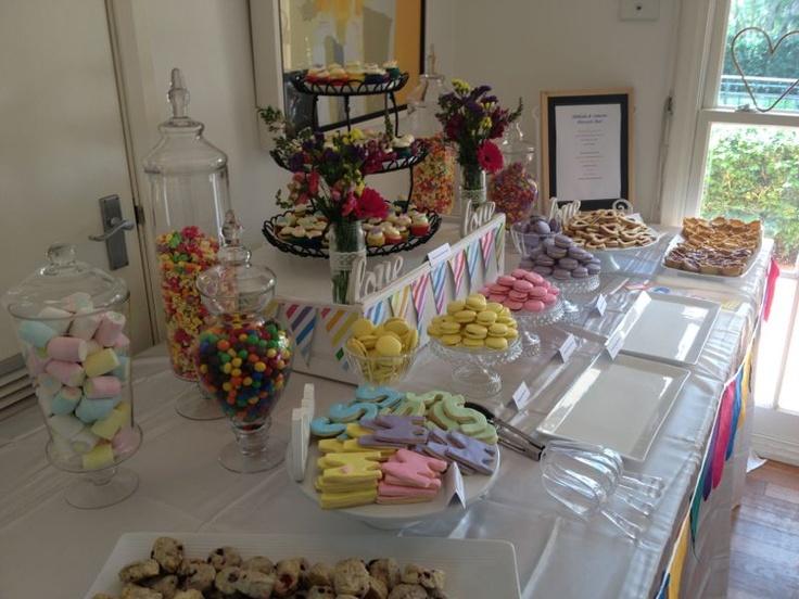 Colourful Dessert Bar Event Ideas Pinterest