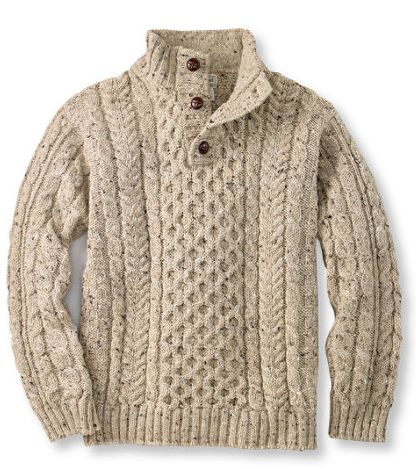 Knitting Patterns Fisherman s Rib Sweater : LL Bean Irish Fishermans Sweater Ireland - Aren Sweaters ...