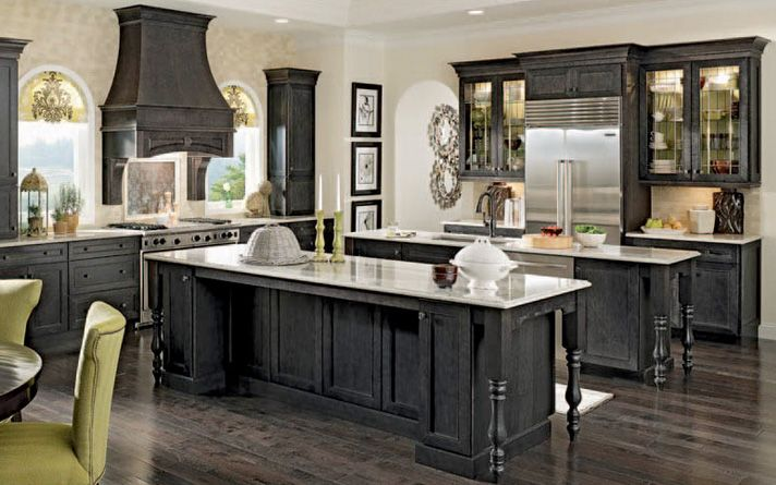 Pin by priyanka dutt on amazing kitchens pinterest for Black kitchen cupboards