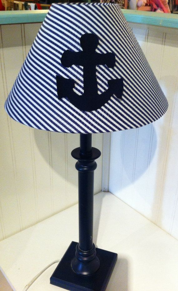 Anchor lamp shade nautical decor coottage decor for Anchor decoration