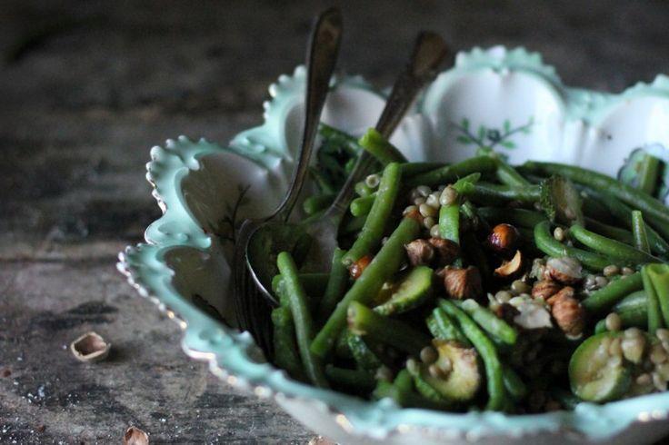 hazelnut, lentil and green bean salad} | Salads! | Pinterest