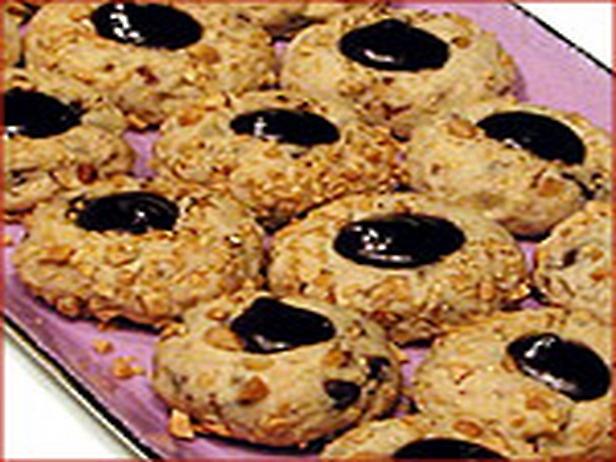 Chocolate Peanut Butter Thumbprint Cookies | Recipe
