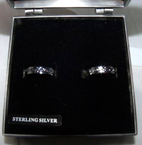 NIGHTMARE BEFORE CHRISTMAS STERLING SILVER 925 VERY RARE WEDDING RING ...