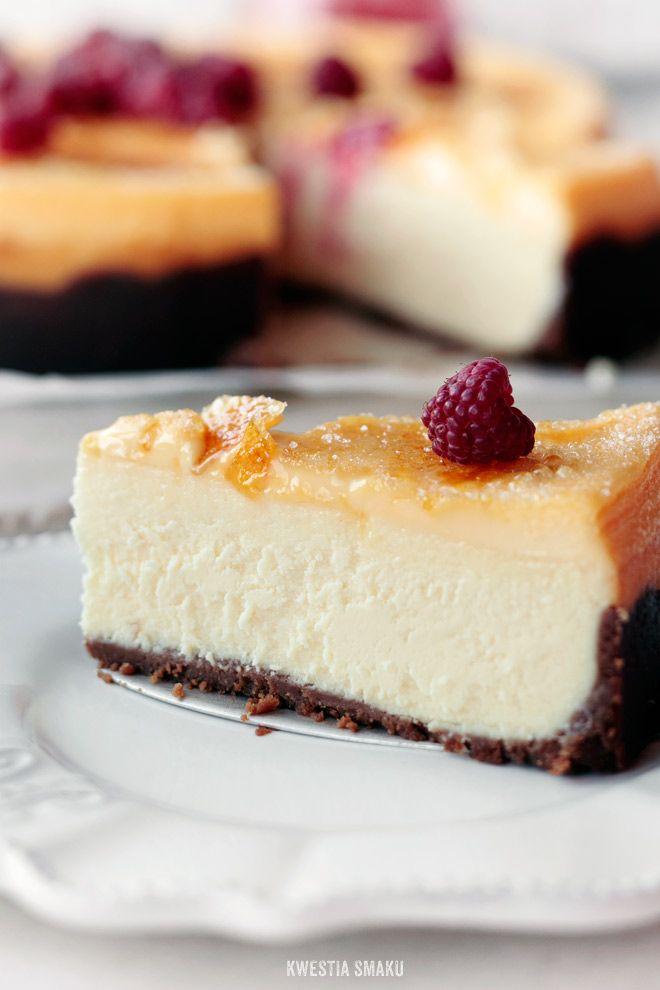 Creme brulee cheesecake | i love baking | Pinterest