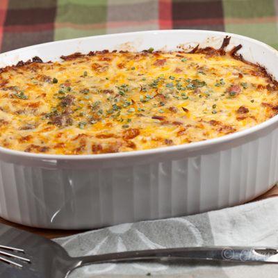 Cheesy Potato Breakfast Casserole   chew out loud