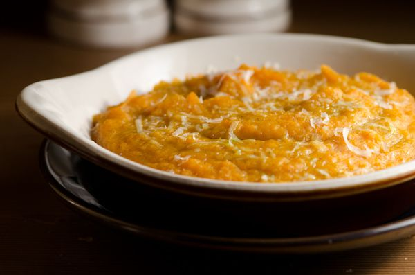 ... Dolce: Sweet Potato Purée, Aromatic Spices, and Whipped Mascarpone