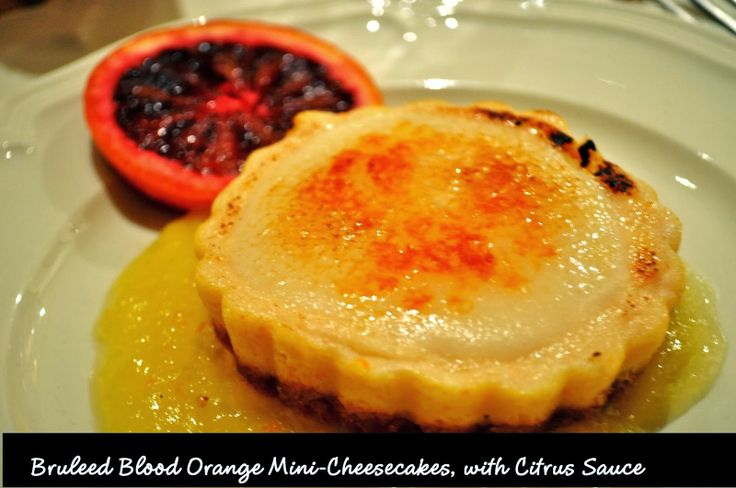 ... Girl Cooks!: Bruleed Blood Orange Mini-Cheesecakes, with Citrus Sauce